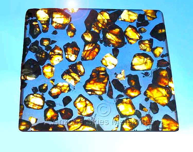 Picture of an exquisite Esquel Pallasite Meteorite